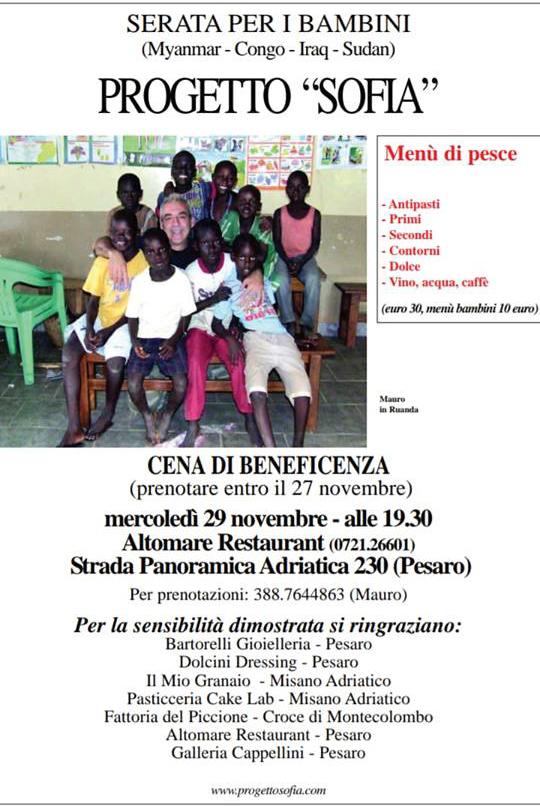 Top Eventi di Beneficenza | Progetto Sofia LE58